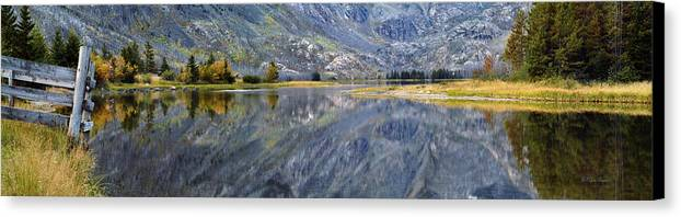 Beautiful Canvas Print featuring the photograph East Rosebud Lake Fall Panorama by Roger Snyder