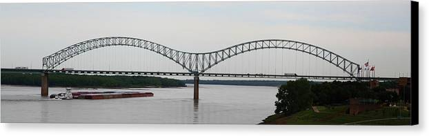 Bridge Canvas Print featuring the photograph Mississippi River by John Nelson