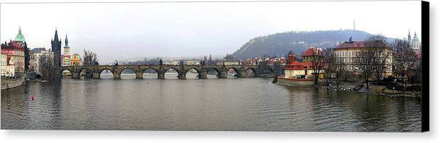 Charles Bridge Photographs Canvas Print featuring the photograph Charles Bridge by Gary Lobdell