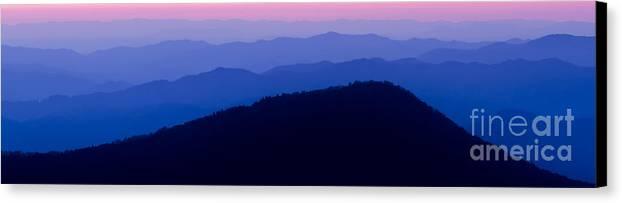 Blue Ridge Mountains Canvas Print featuring the photograph Blue Ridge Mountains by Dustin K Ryan