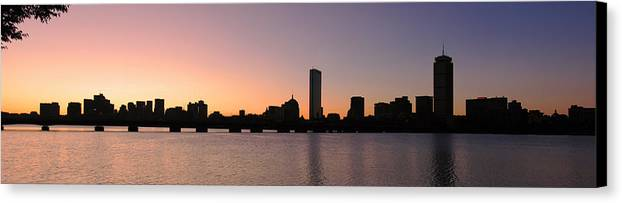 Boston Canvas Print featuring the photograph Boston Skyline by Juergen Roth