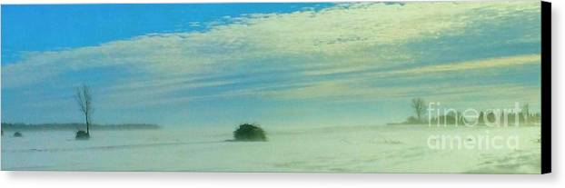 Lost Canvas Print featuring the photograph Lost In Quebec's Winter by Celyna V Champagne