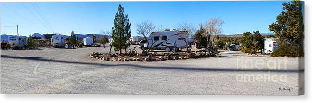 Roena King Canvas Print featuring the photograph Panorama Cedar Cove Rv Park Street 2 by Roena King