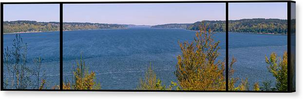 Puget Canvas Print featuring the photograph Puget Sound Panoramic by Tikvah's Hope