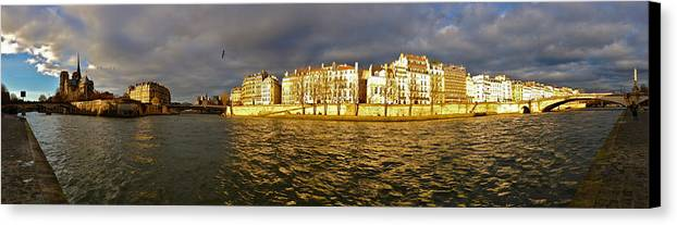 Paris Canvas Print featuring the photograph Golden Seine by Lexi Heft
