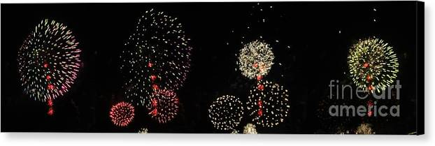 Opsail Canvas Print featuring the photograph Firework Lifecycle 3 by Meandering Photography