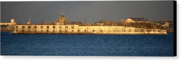 Fort Canvas Print featuring the photograph Fort Carroll Patapsco River Maryland by Wayne Higgs