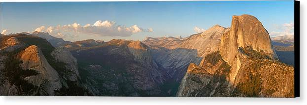 Sun Canvas Print featuring the photograph Glacier Point Panorama by Nicholas Blackwell