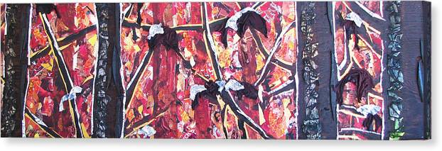 Forest Canvas Print featuring the mixed media Consumer Forest Fire by Alicia LaRue