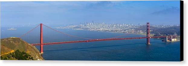 Architecture Canvas Print featuring the photograph Golden Gate by Radek Hofman