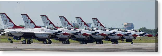 Thunderbirds Canvas Print featuring the photograph Thunderbirds by Dieter Lesche