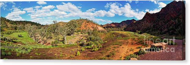 Bracchina Gorge Flinders Ranges South Australia Landscape Panorama Outback Australian Landscapes Canvas Print featuring the photograph Bracchina Gorge Flinders Ranges South Australia by Bill Robinson