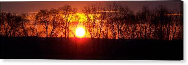 Sunrise Canvas Print featuring the photograph Sunrise 5 1 2009 002a by Chris Deletzke aka Sparkling Clean Productions