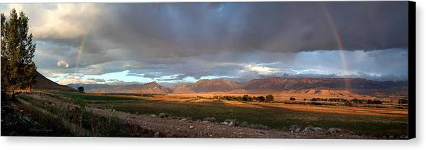 Beautiful Canvas Print featuring the photograph Clarks Fork Rainbow by Roger Snyder