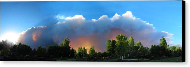 Colorado Canvas Print featuring the photograph Wildfire Coming by Ric Soulen