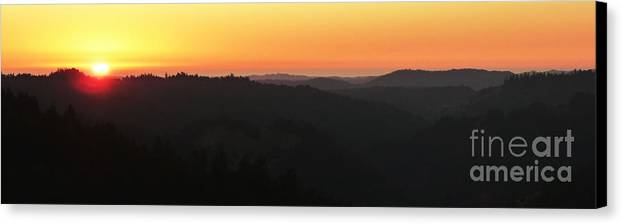 Panoramic Canvas Print featuring the photograph Last Sunset Before The Autumnal Equinox by JoAnn SkyWatcher