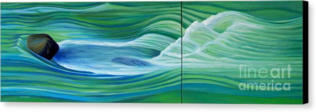 River Canvas Print featuring the painting When We Met  by Brian Commerford