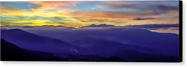 Corsica Canvas Print featuring the photograph Corsican Sunset by Jim Collier