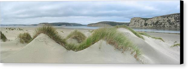 Landscape Canvas Print featuring the photograph Limantour Spit On A Grey Day by Bob Bennett