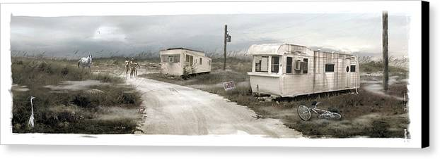 Landscape Canvas Print featuring the photograph Paradise Lost by Tony A Blue