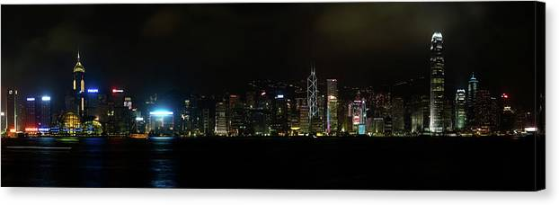 Hong Kong Canvas Print featuring the photograph Victoria Harbor by Chunsum Choi