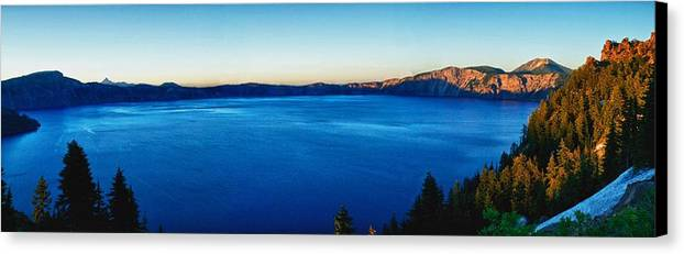 Crater Lake Canvas Print featuring the photograph Blue Blue Blue by Rob Wilson