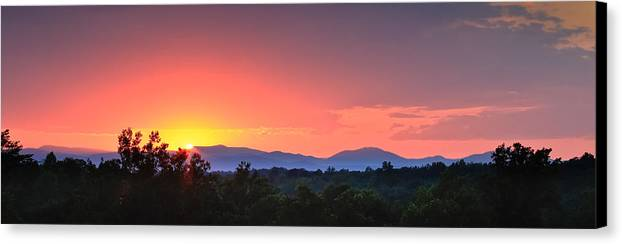 Blue Ridge Canvas Print featuring the photograph Pink Arc Above The Blue Ridge by Nathaniel Kidd