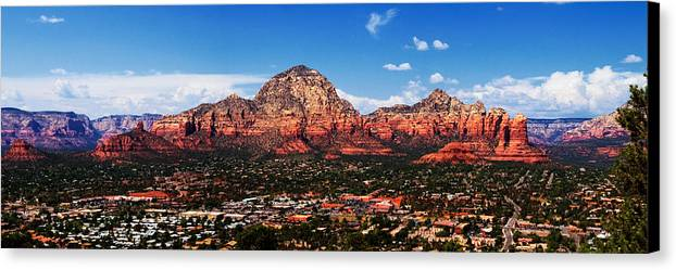 Red Rock Canvas Print featuring the photograph Sedona Red Rock by Lisa Spencer