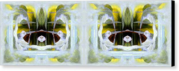 Abstract Canvas Print featuring the digital art Pond In Fairyland by Joe Halinar