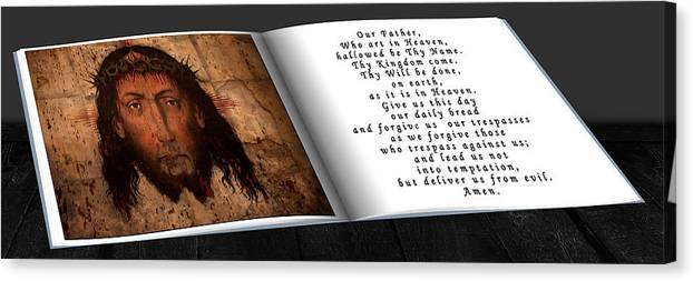 Christ Canvas Print featuring the photograph Prayer Book by Cecil Fuselier