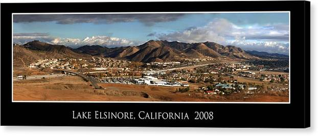 Landscape Canvas Print featuring the photograph Lake Elsinore 2008 by Richard Gordon