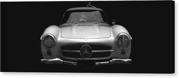 Mercedes Canvas Print featuring the photograph Gullwing Mercedes by Michael Moore