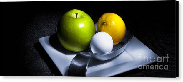 Apple Canvas Print featuring the photograph Still Life Eclectic 2 by Cecil Fuselier