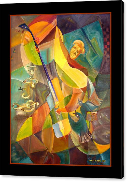 Paul Mccartney Canvas Print featuring the painting 1956 Abstract Paul by Samuel Thomas