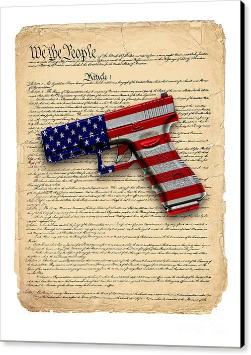 Gun Control-2 Canvas Print