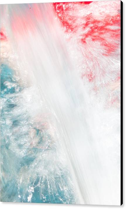 Art For Sale By Artist Canvas Print featuring the photograph Splashing Water On Colors Abstract Photo by Terry Walsh