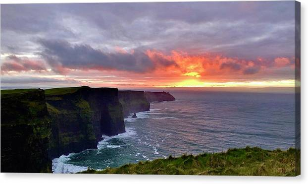 Cliffs of Mohr Sunset  by Sarah Wilson
