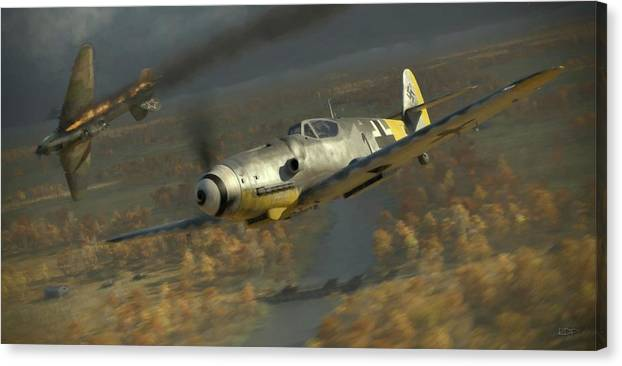 Wwii Canvas Print featuring the digital art 200 - Painterly by Robert Perry