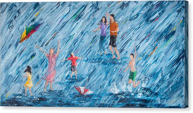 Puddle Jumping - Family Style - Gray Day Joy by Cynthia Christine