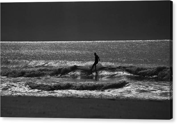 Surfer Canvas Print featuring the photograph Morning surfer by Sheila Smart Fine Art Photography