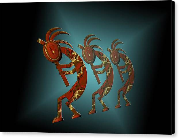 Kokopelli Canvas Print Canvas Art By Carol And Mike Werner