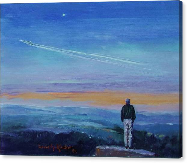 Contrails Across The Sky by Beverly Klucher