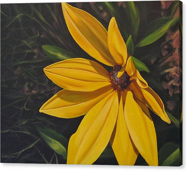 Wildflower Canvas Print featuring the painting Sign of Summer by Hunter Jay