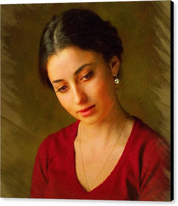 Young Lady classic portrait by Yury Malkov