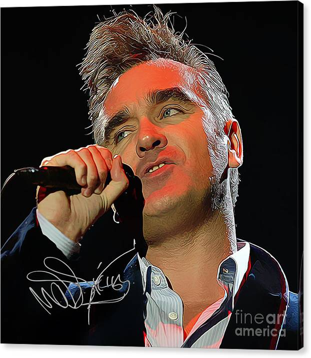 Morrissey Art with Autograph by Kjc