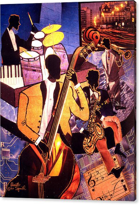 Everett Spruill Canvas Print featuring the painting The Blues People by Everett Spruill