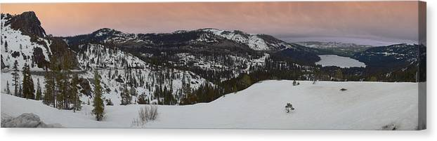 Canvas Print featuring the photograph Donner Panoramic by Adam Blankenship