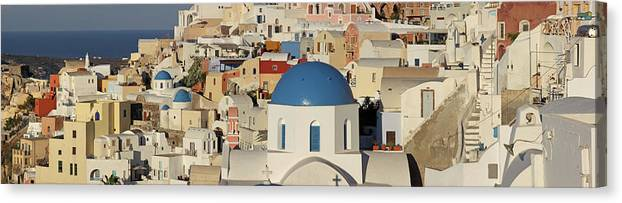 Tranquility Canvas Print featuring the photograph Oia Architecture by Sandra Kreuzinger