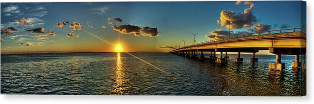 Panoramic Canvas Print featuring the photograph Queen Isabella Causeway by Joshua Bozarth