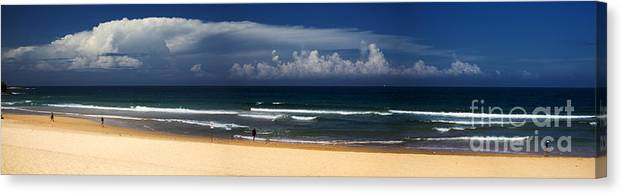Manly Beach Canvas Print featuring the photograph Manly Beach panorama by Sheila Smart Fine Art Photography